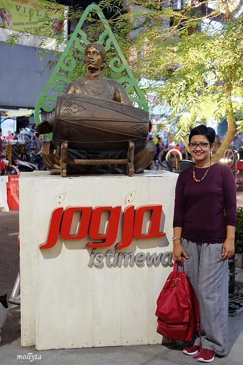 di jalan Malioboro Yogyakarta