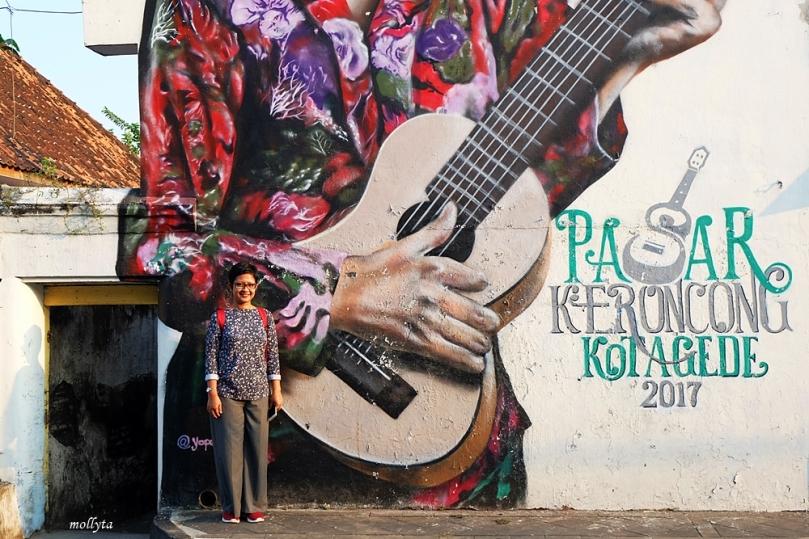 Mural di Kotagede Yogyakarta
