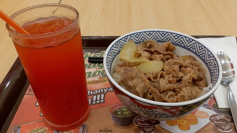 Menu di Yoshinoya Mall Solo Paragon