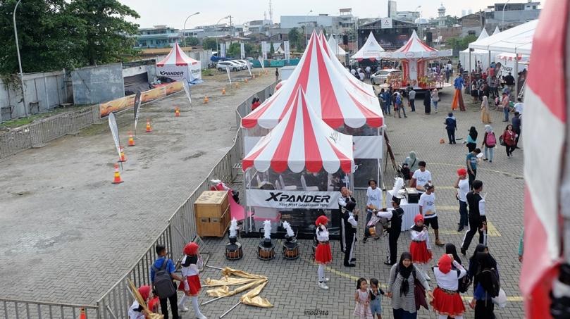 Dari ketinggian wahana Ferris Wheel Mitsubishi XPANDER Medan
