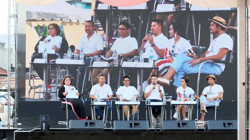 Talkshow di acara Mitsubishi XPANDER Tons of Real Happiness di Medan