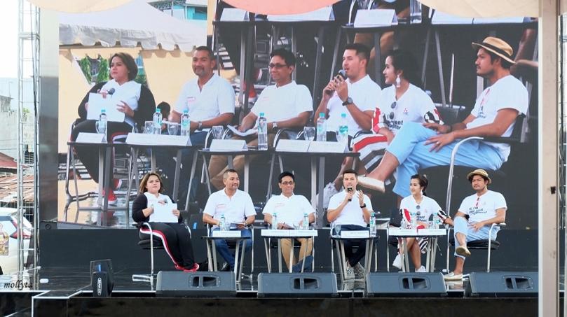 Talkshow di acara Mitsubishi XPANDER Tons of Real Happiness di Medan