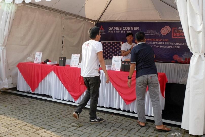 Games Corner acara Mitsubishi XPANDER Medan