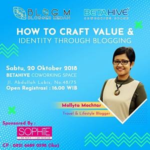 Mollyta Mochtar pembicara di acara Blogger Medan
