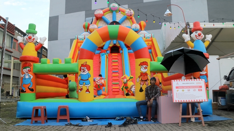 Balloon Castle di Mitsubishi XPANDER Plaza Medan Fair