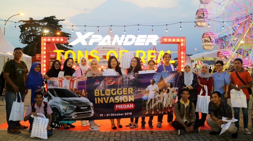 Blogger Invasion Mitsubishi XPANDER Plaza Medan Fair