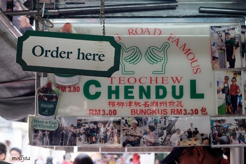 Memesan di Penang Road Famous Teochew Chendul
