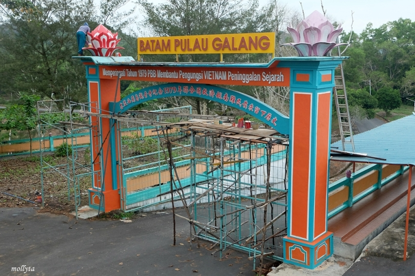 Gapura di Pagoda Quan Am Tu pulau Galang