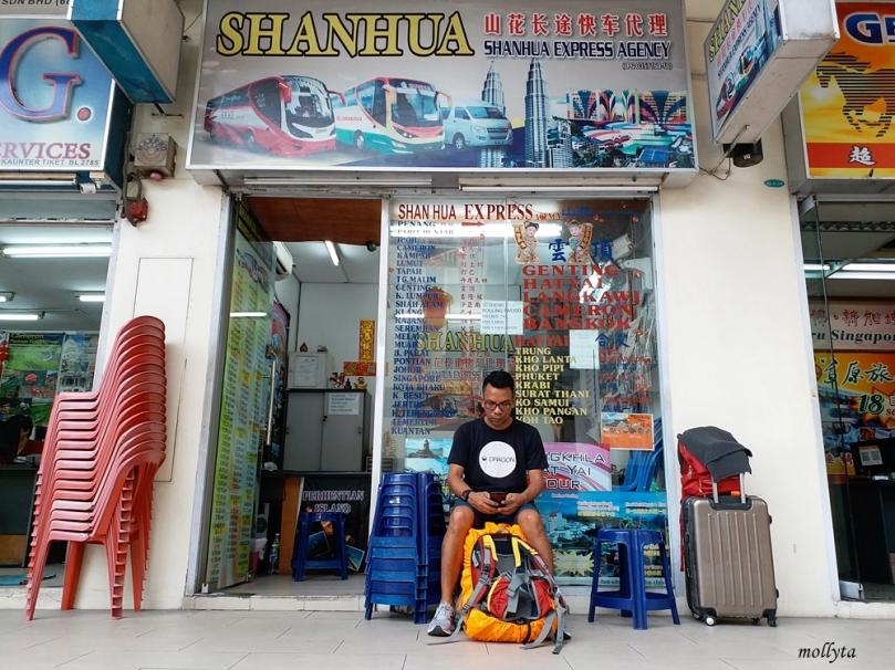 Kios travel agency di Komtar, Penang