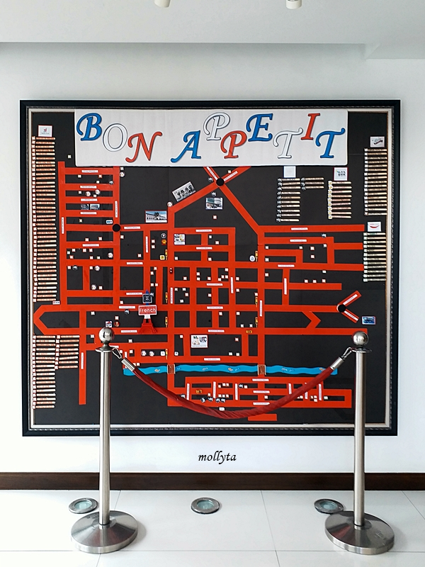 Map of culinary French Hotel Ipoh