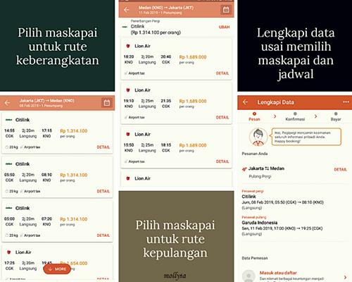 Cara pilih maskapai di aplikasi PegiPegi.com
