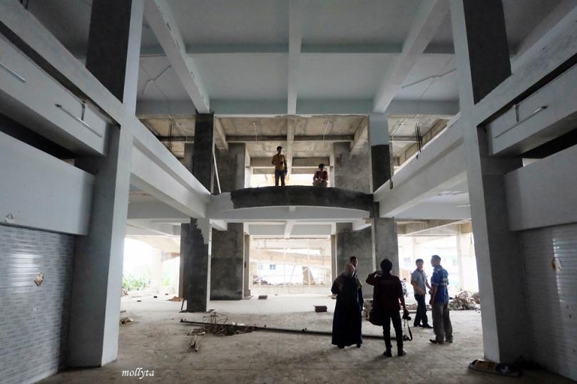 Pembangunan atrium Pasar Tikung Medan