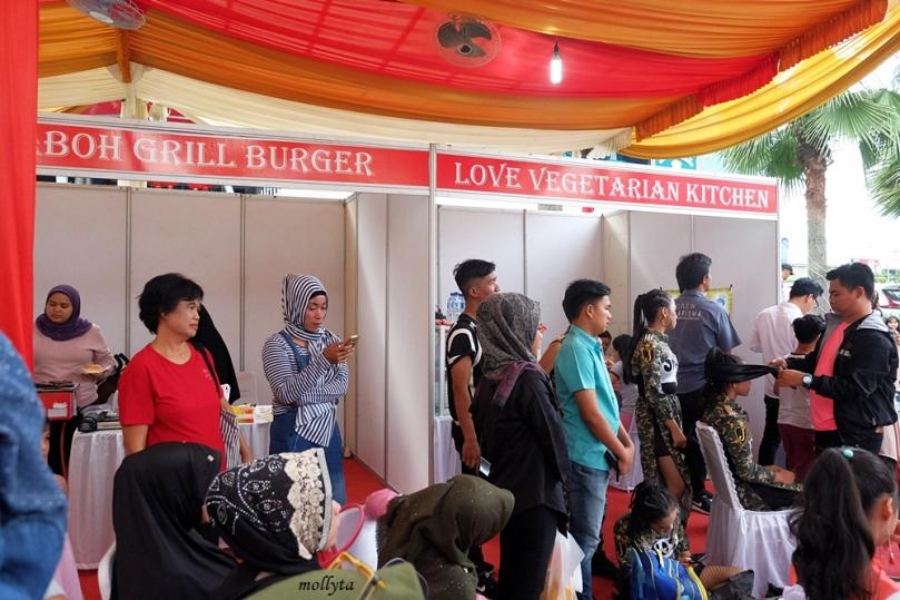Stand kuliner acara SOBATKU Medan
