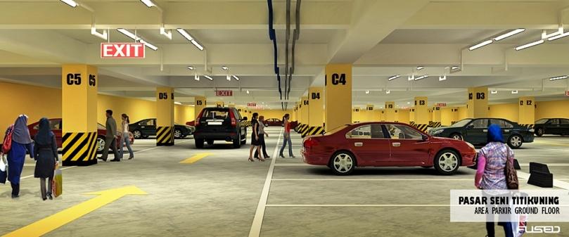 Area parkir Pasar Tikung Medan