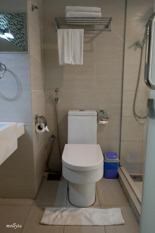 Toilet bersih di kamar French Hotel Ipoh