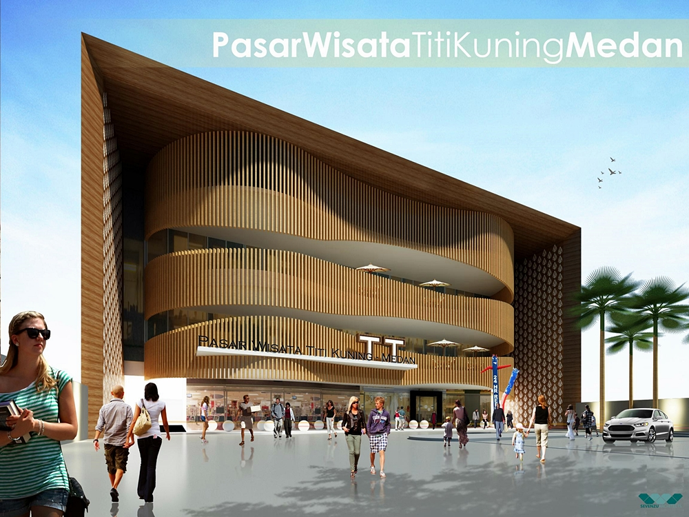 Pasar wisata Titi Kuning Medan