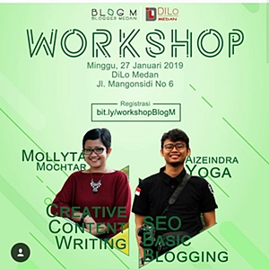 Mollyta Mochtar Pembicara Workshop Blogger Medan
