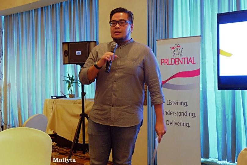 Arie C Nursyadzali selaku MC acara Prudential Medan