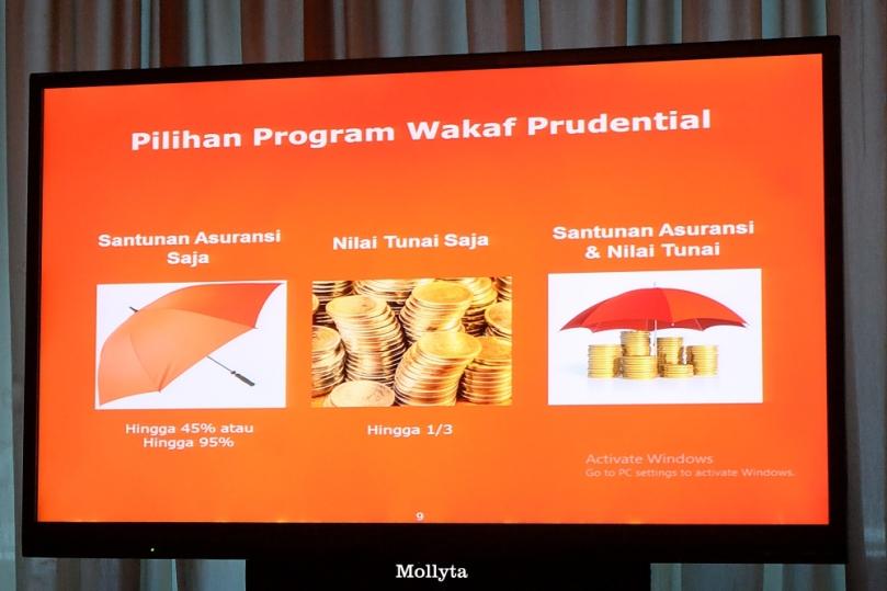 Pilihan program wakaf Prudential