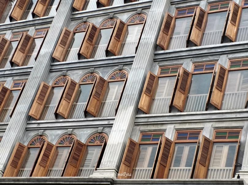Jendela gedung di Ipoh