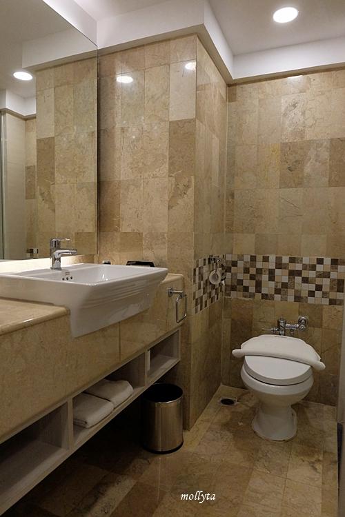 kamar mandi Deluxe Room Radisson Medan