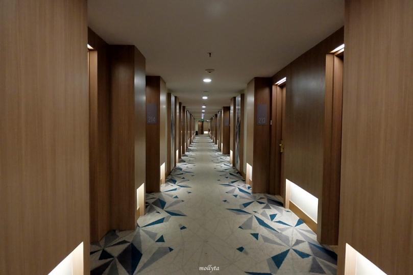 Koridor kamar Radisson Medan