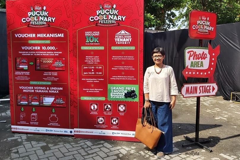 Pintu masuk Pucuk Coolnary Festival Medan 2019