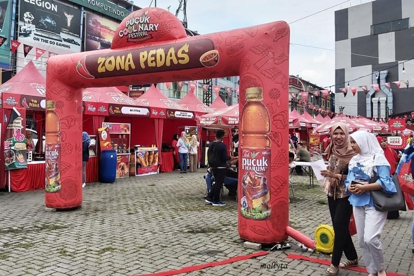 Zona pedas Pucuk Coolinary Festival Medan 2019