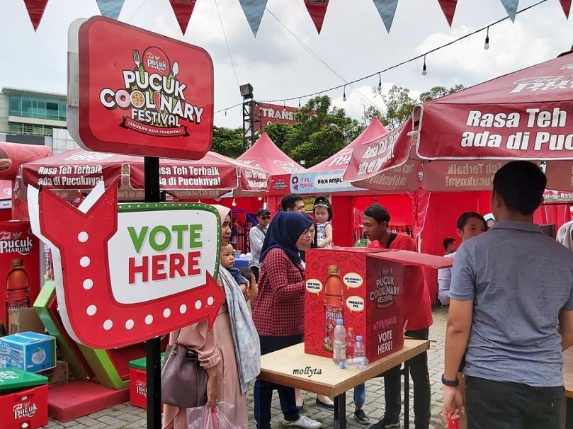 Pilih tenant favorit Pucuk Coolinary Festival Medan 2019