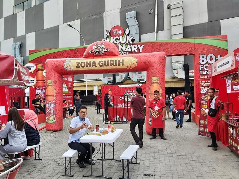 Di zona gurih Pucuk Coolinary Festival Medan 2019