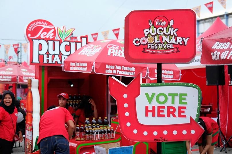 Pemilihan tenant favorit di Pucuk Coolinary Festival Medan 2019