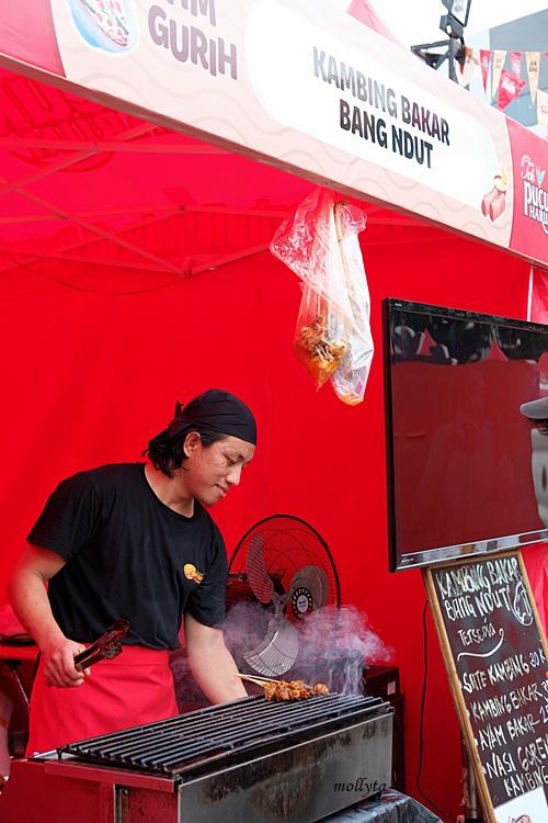 Kambing bakar Bang Ndut di Pucuk Coolinary Festival Medan