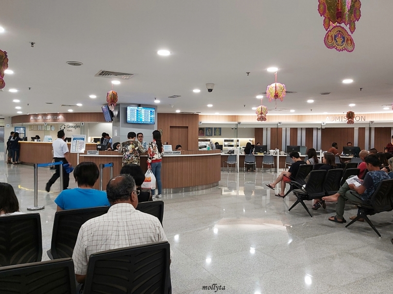 Ruang tunggu di Gleneagles Hospital Penang