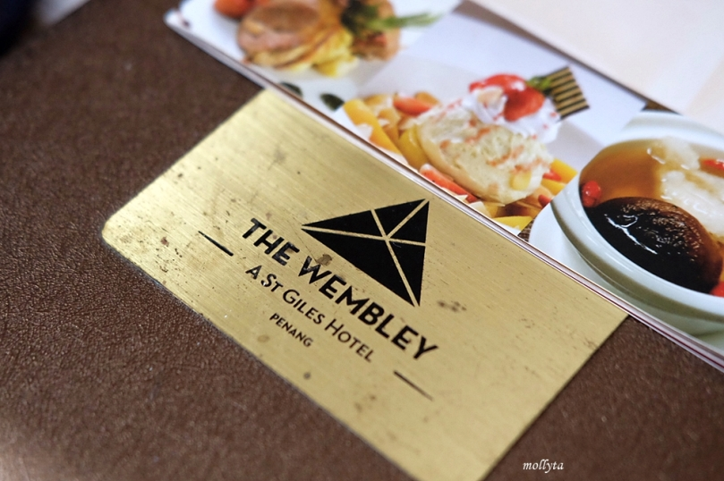 BUku menu The Wembley A St Giles Hotel Penang