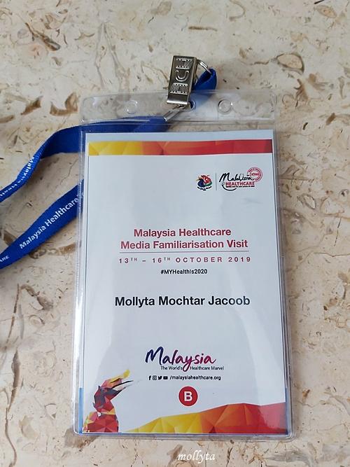 Mollyta Mochtar peserta Malaysia Healthcare Media Familiarisation Visit ke Penang