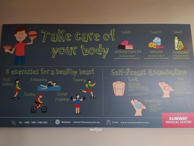 Periksa kesehatan di Sunway Medical Centre