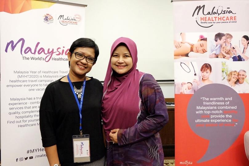 Bersama Ibu Sherene Azli CEO MHTC