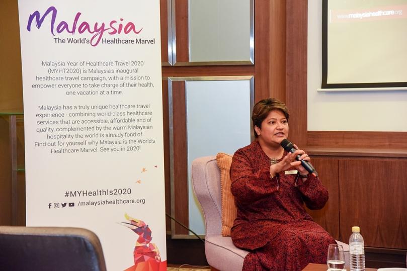 Farah Delah Suhaimi dari Malaysia Healthcare Travel Council