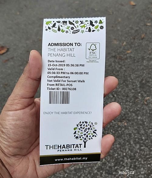 Tiket masuk The Habitat Penang Hill