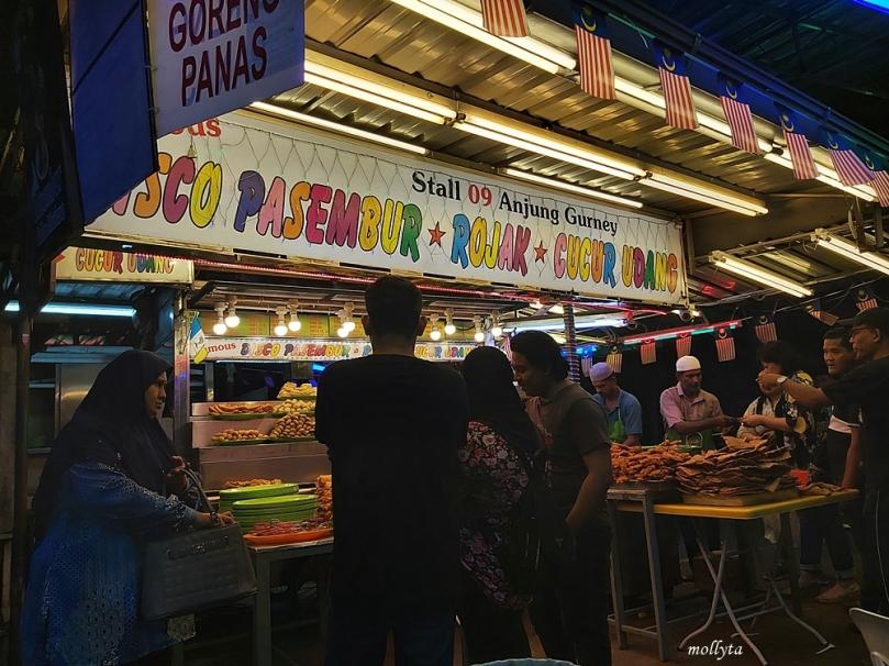 Stall makanan di Anjung Gurney