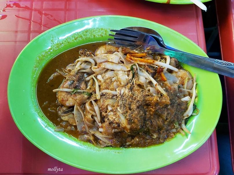 Kwetiaw seafood di Anjung Gurney
