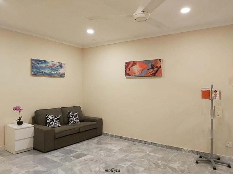 Ruang duduk di Palmville Resort Condominium