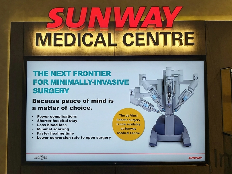 da Vinci Robotic Surgery di Sunway Medical Centre