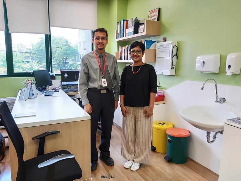 Bersama dokter ahli Kanker di Sunway Medical Centre