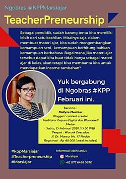 Mollyta Mochtar pembicara Teacherpreneurship Marsiajar Medan