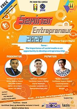 Mollyta Mochtar pembicara Seminar Entrepreneur UMSU Medan