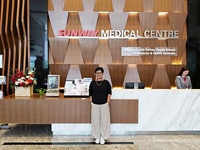 Mollyta Mochtar mendapat undangan Health Screening dari Sunway Medical Centre Malaysia