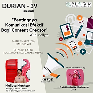 Mollyta Mochtar blogger Medan dan content creator