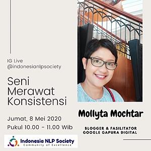 Mollyta di IG Live Indonesia NLP Society