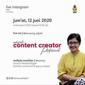 Live Instagram Mollyta bersama Kampung Digital